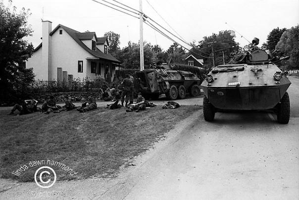Raid on a Kahnawake Longhouse on Sept 2, 1990.
