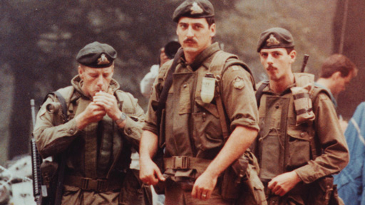 Soldiers from the Royal 22nd Regiment at Oka, 1990.