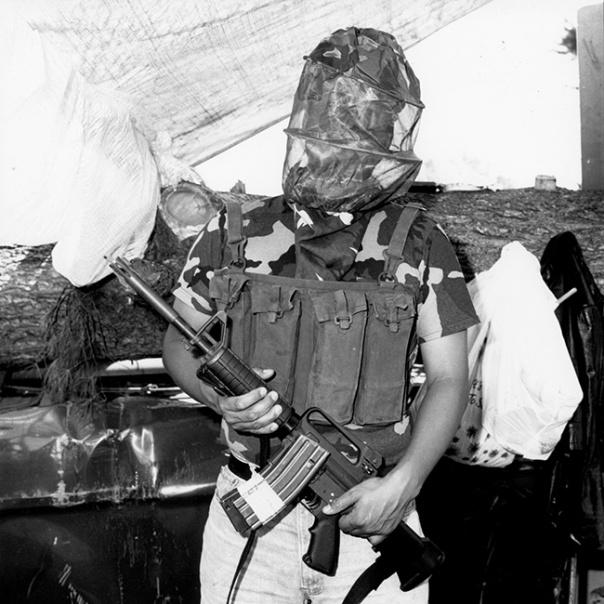 Warrior with CAR-15 rifle.