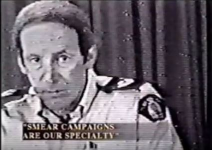 RCMP media spokesperson during the Ts'Peten siege, Sgt Peter Montague.