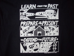 T Shirt Learn from Past black