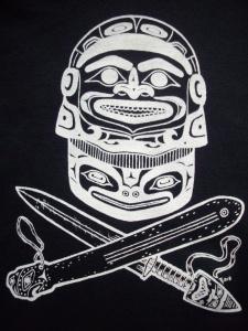 Tshirt Tlingit Warrior BW 1 sm