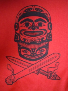 Tshirt Tlingit Warrior red sm