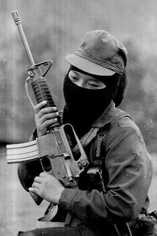 Zapatista women fighter