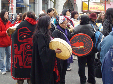 Women's Memorial March, Vancouver, Feb 14, 2008
