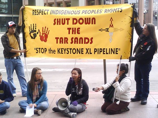 Keystone XL AIM protest
