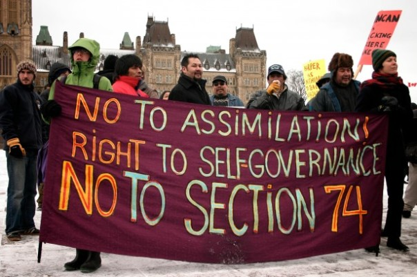 Algonquins of Barriere Lake protest in Ottawa, 2010