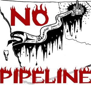 Enbridge anti-pipeline logo
