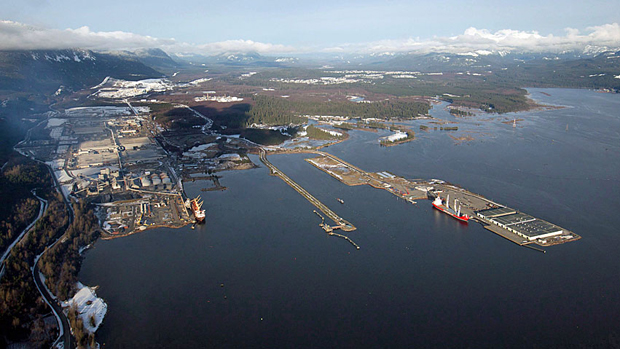 Kitimat port aerial