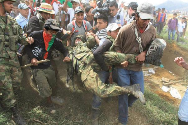 Colombia natives kick out military 2012