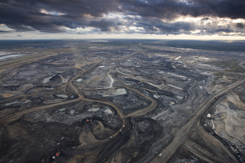 Part of the Tar Sands in northern Alberta, one of the world's largest industrial projects.
