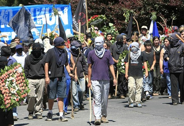 Mapuche youth warriors