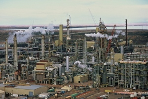 Tar Sands factory complex in northern Alberta.
