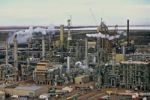 Tar Sands factory complex in northern Alberta.