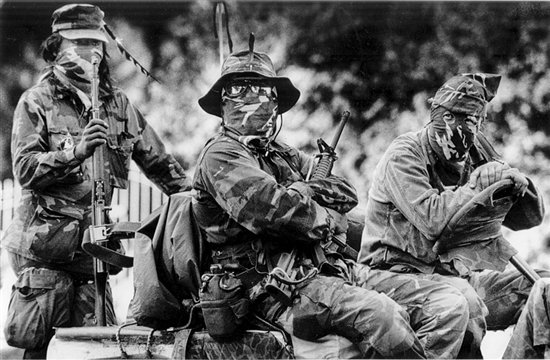 Oka three armed warriors