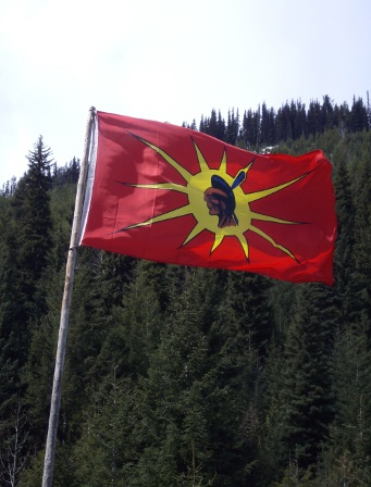 Warrior flag flying over Sutikalh.