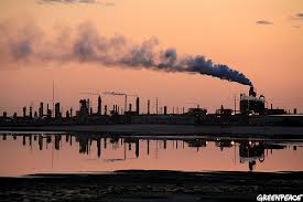 Tar Sands factories in northern Alberta.