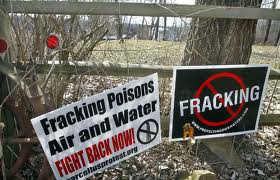 Fracking protest signs