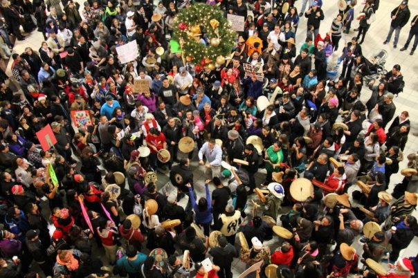 INM flash mob at Park Royal mall in West Vancouver, Dec 23.