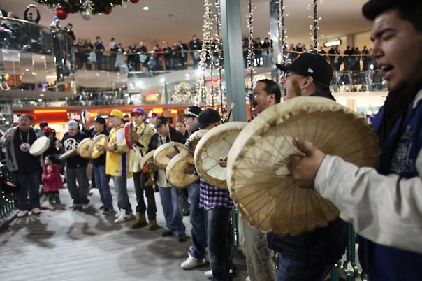 Flash mob in Edmonton mall, December 2012.