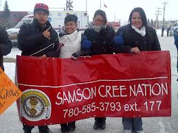 Samson Cree Nation band council blockades highway near Edmonton, AB.