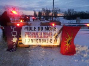 Tyendinaga rail blockade, Dec 30, 2012.