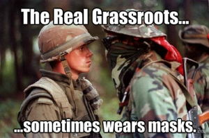 Meme using iconic photo from 1990 Oka Crisis.