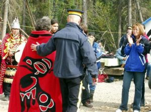 Tahltan elder arrested in 2005 for blockading machinery.