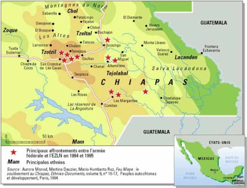 Zapatista chiapas ezln map