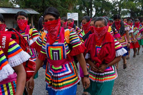 Zapatistas Dec 21 chiapas women