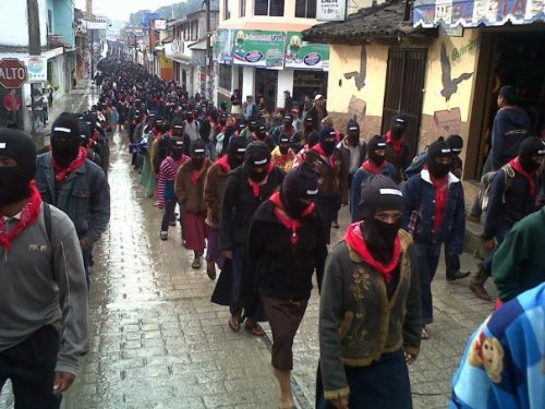 Zapatistas march in Ocosingo, Dec 21, 2012.