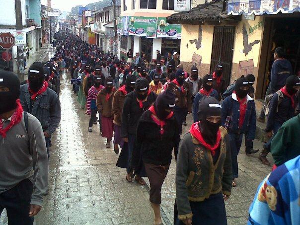 Zapatistas march in Ocosingo, Dec 21, 2012.