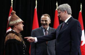 PM Harper reminds Atleo who signs his cheques.