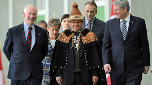 AFN grand thief Atleo with his benefactors, First Nations-Crown Summit, Jan 2012.