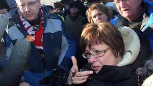 Indian Act chief Theresa Spence in media scrum during hunger strike.