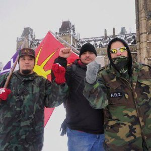 Grassroots warriors at Idle No More rally in Ottawa, Dec 21, 2012.