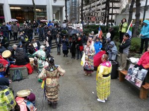 INM rally in Vancouver outside Aboriginal Affairs and Northern Development building, Jan 28, 2013.