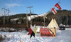 Idle No more Listuguj train blockade