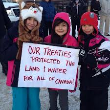 In reality, the treaties haven't stopped the Tar Sands, uranium mining, etc.