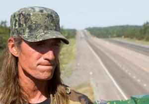 Shawn Brant at Tyendinaga Mohawk territory.