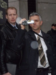Police videotaping anti-Olympic protesters in Vancouver, 2008.