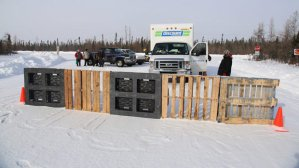 Attawapiskat blockade of De Beers Victor diamond mine, Feb 13, 2013.