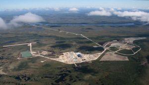 Attawapiskat De Beers Victor mine aerial