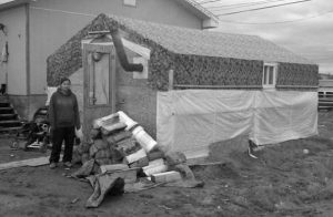 One of the shacks residents of Attawapiskat have constructed in response to housing shortage.