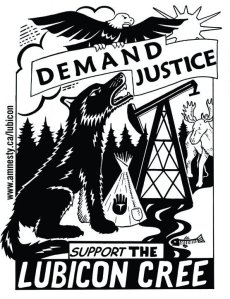 Lubicon Cree demand justice graphic
