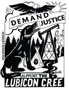 Lubicon Cree demand justice graphic