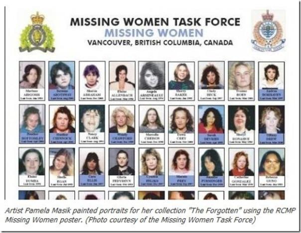 Missing Murdered Women Task Force poster