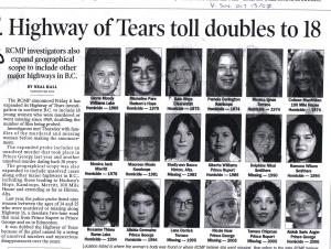 Missing Women Highway of Tears news