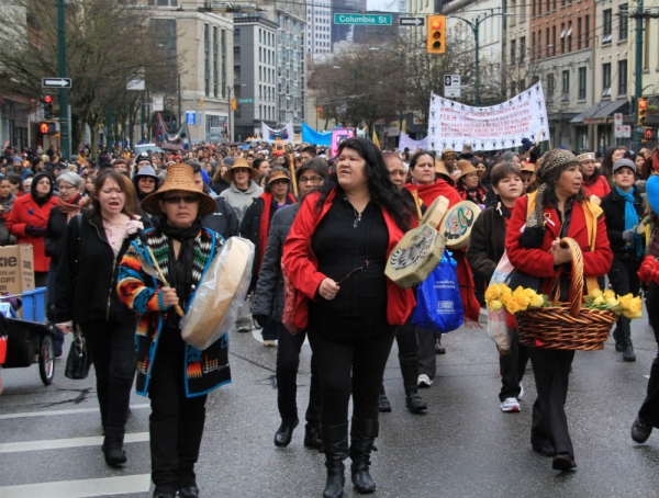 22nd Annual Women's Memorial March in Vancouver's Downtown Eastside, Feb 14, 2013.