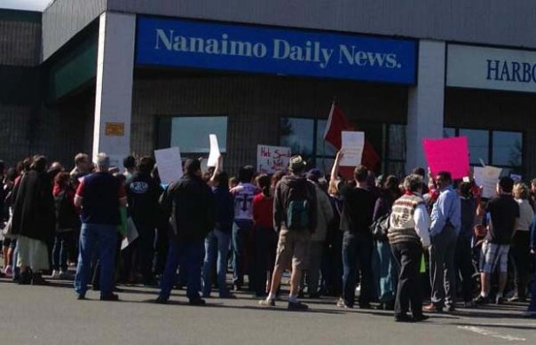 Nanaimo daily news protest 2